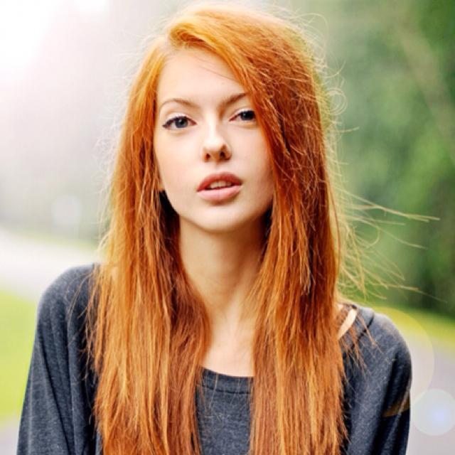 Ohh Dark Pink & Red Hair Girls of America -  Hot Hollywood Girls Actress