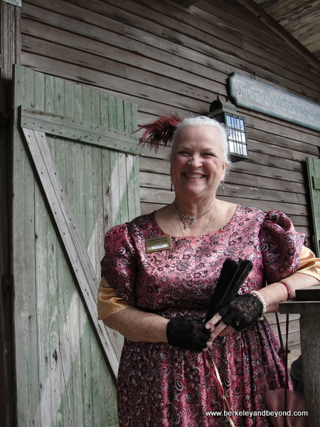 costumed docent at Destrehan Plantation in Louisiana