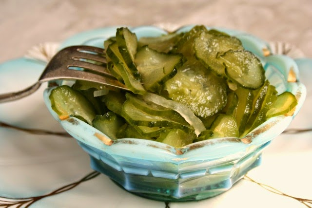 Sweet and crunchy freezer pickle recipe: Freezer pickles are the easiest pickle recipe out there. They're barely cooked then bottled & stored in the freezer. This recipe makes a sweet pickle that maintains its crunch.