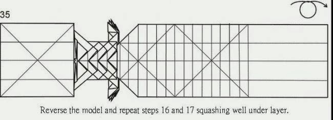 3d origami dragon diagram