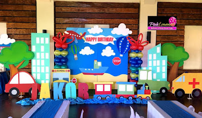 Transportation theme stage decoration