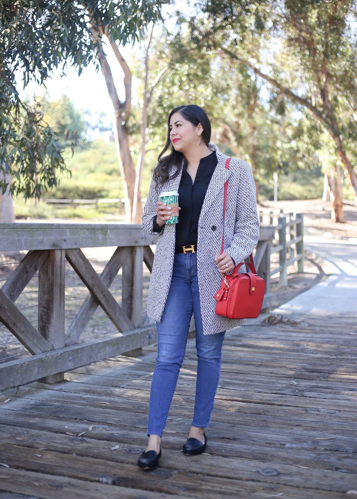 galian handbags, how to wear a red handbag, red top handle structured purse