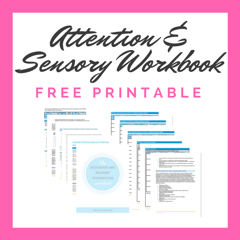 Free attention and sensory workbook