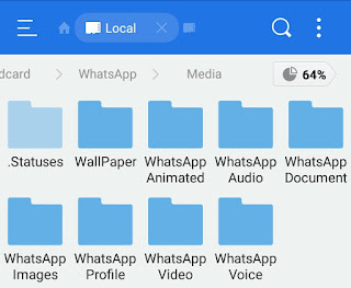 WhatsApp statuses folder