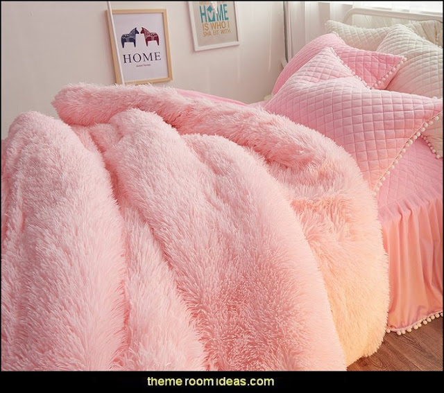fluffy bedding - faux fur home decor - fuzzy furry decorations - Flokati - mink - plush - shaggy - faux flokati upholstery - super soft plush bedding - sheepskin - Mongolian lamb faux fur - Faux Fur Throw - faux fur bedding - faux fur blankets - faux fur pillows - faux fur decorating ideas - faux fur bedroom decor - fur decorations