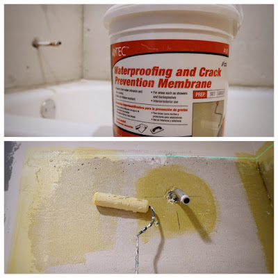 waterproofing crack prevention membrane cement board shower