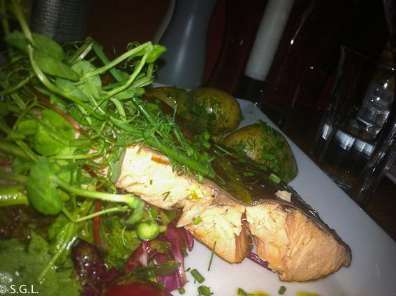 Salmon en Restaurante Kryp In en Estocolmo
