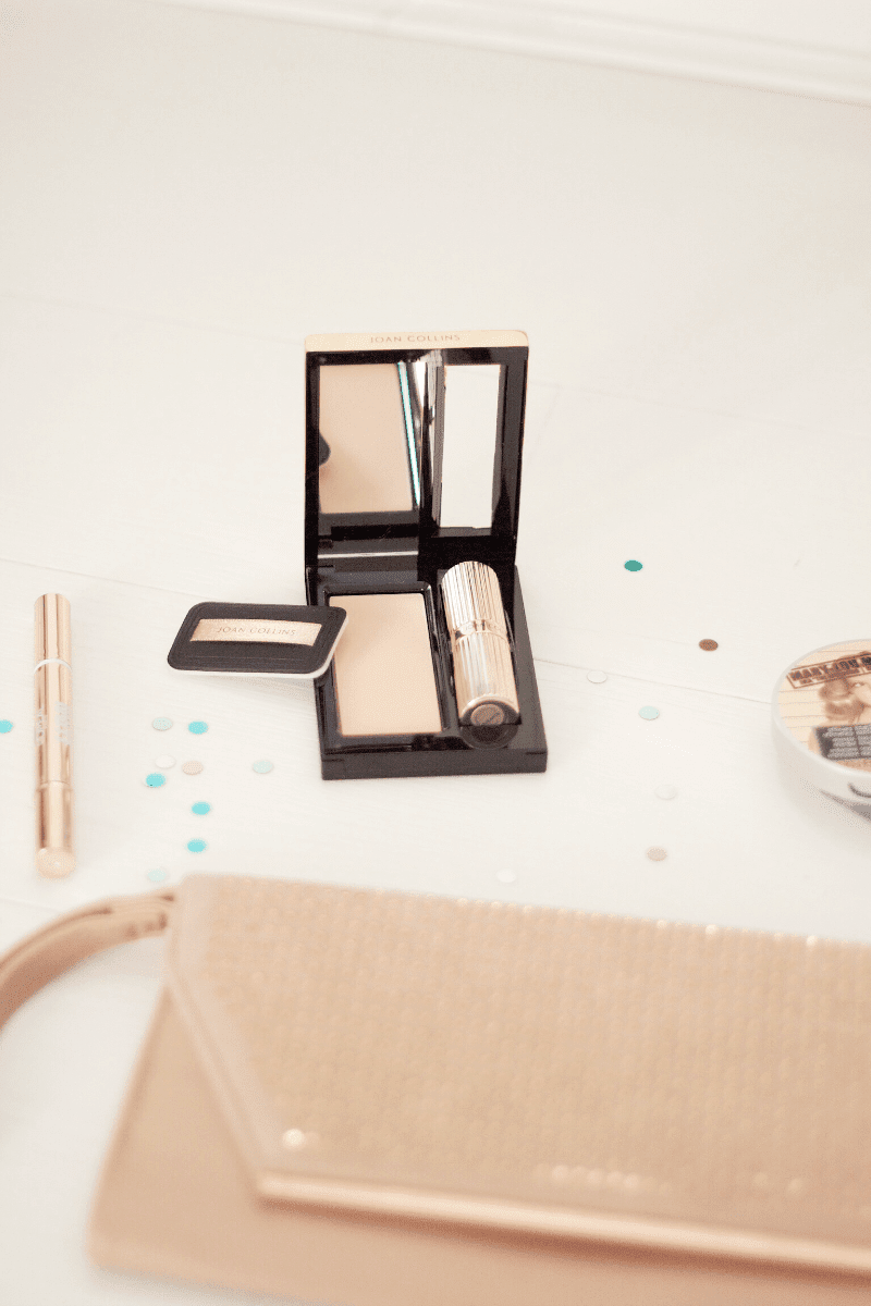 Joan collins lipstick & powder compact duo review