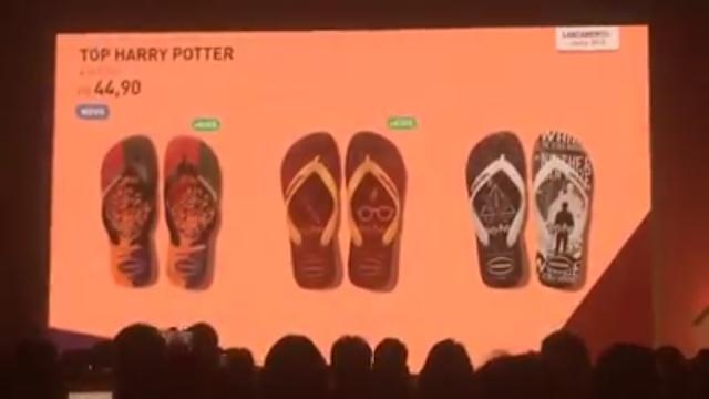 Havaianas lança coleção inspirada em Harry Potter