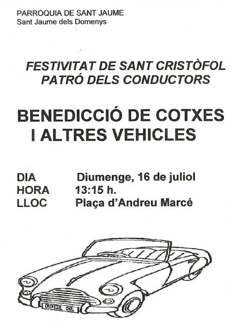 Esguard de Dona - Benedicció de cotxes i altres vehicles 2017 - Sant Jaume dels Domenys