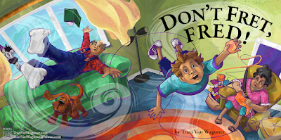 Don't Fret Fred illustration by Traci Van Wagoner