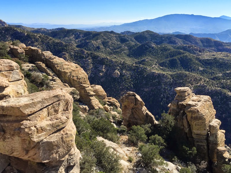 Rock outcroppings on the slopes of Mt. Lemmon in Tucson
