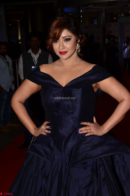 Payal Ghosh aka Harika in Dark Blue Deep Neck Sleeveless Gown at 64th Jio Filmfare Awards South 2017 ~  Exclusive 001.JPGPayal Ghosh aka Harika in Dark Blue Deep Neck Sleeveless Gown at 64th Jio Filmfare Awards South   17th Jun 2017~  Exclusive
