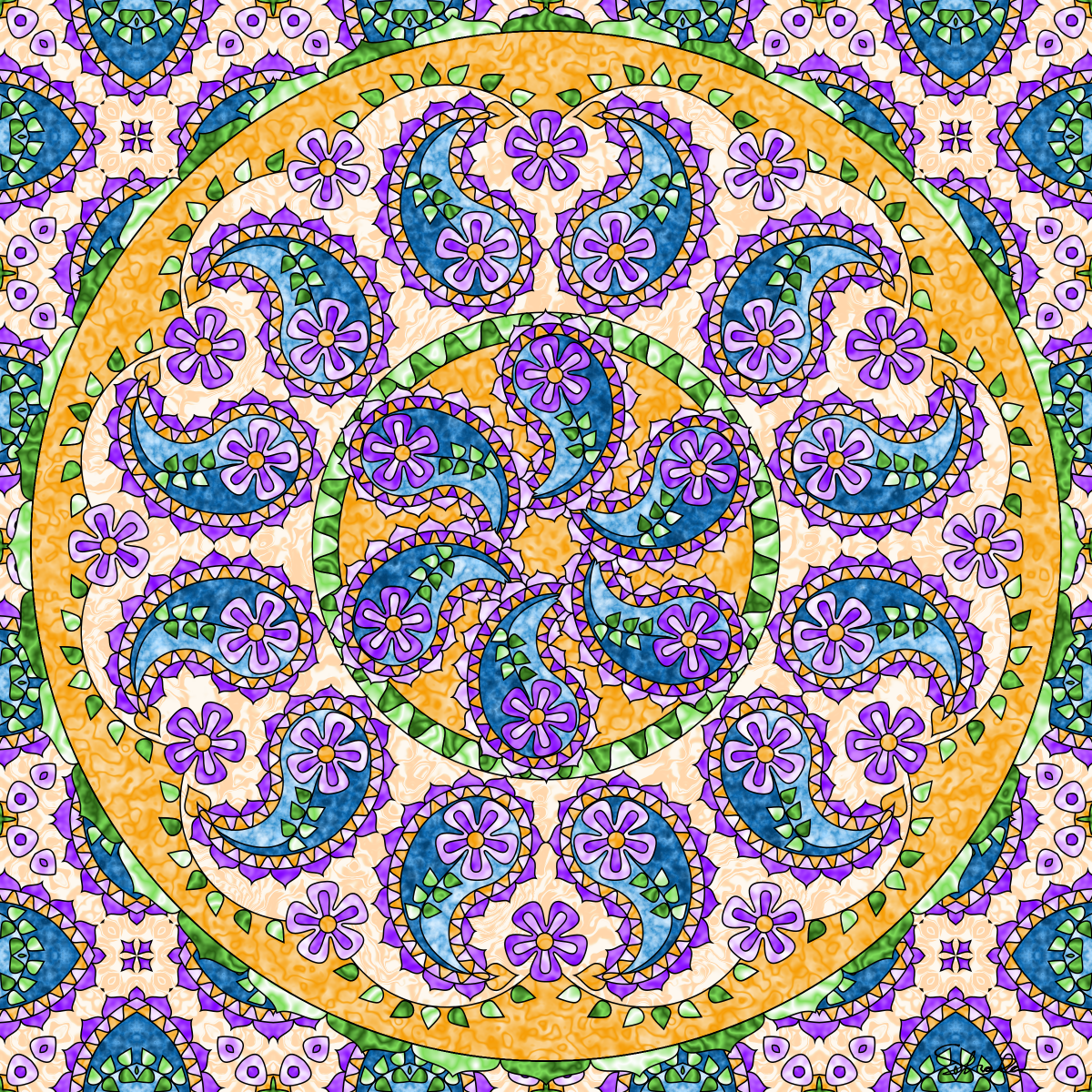 Don T Eat The Paste Paisley Mandala Coloring Page