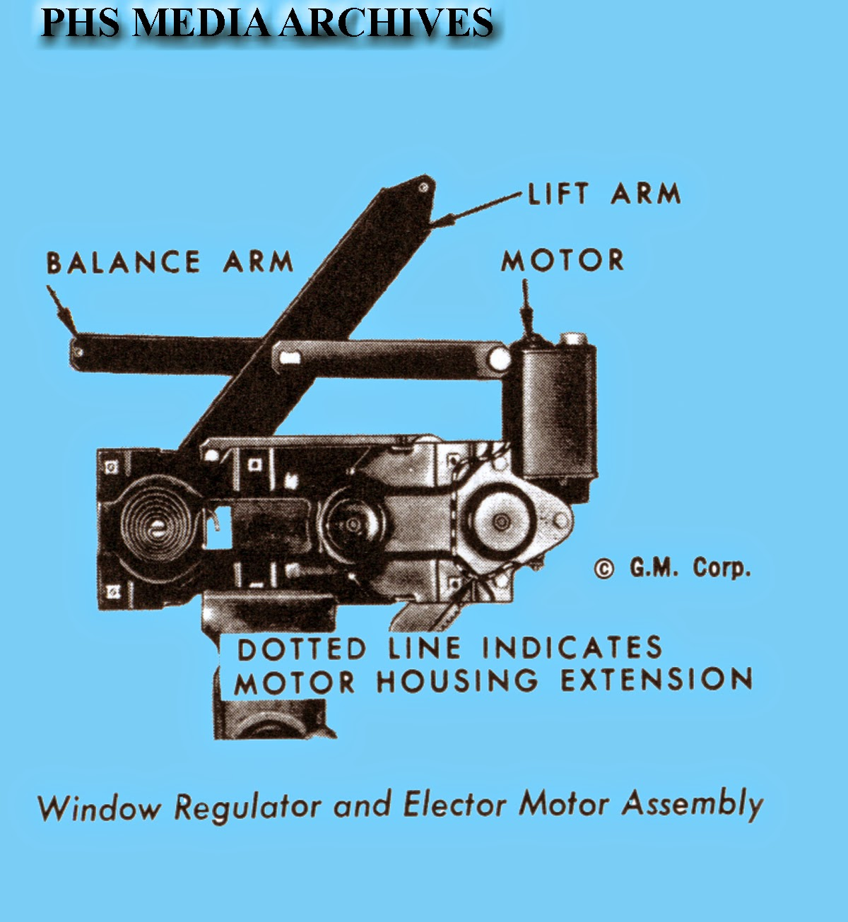 hight resolution of this is what the power window motor looks like when attached to lift and balance arms