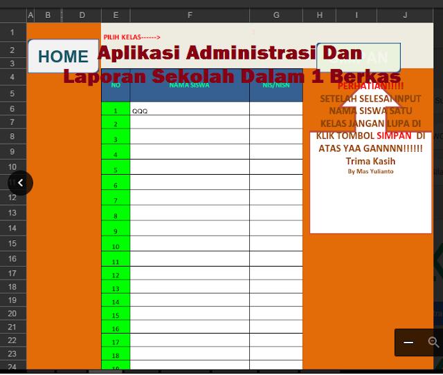 Aplikasi Administrasi Dan Laporan Sekolah Dalam 1 Berkas