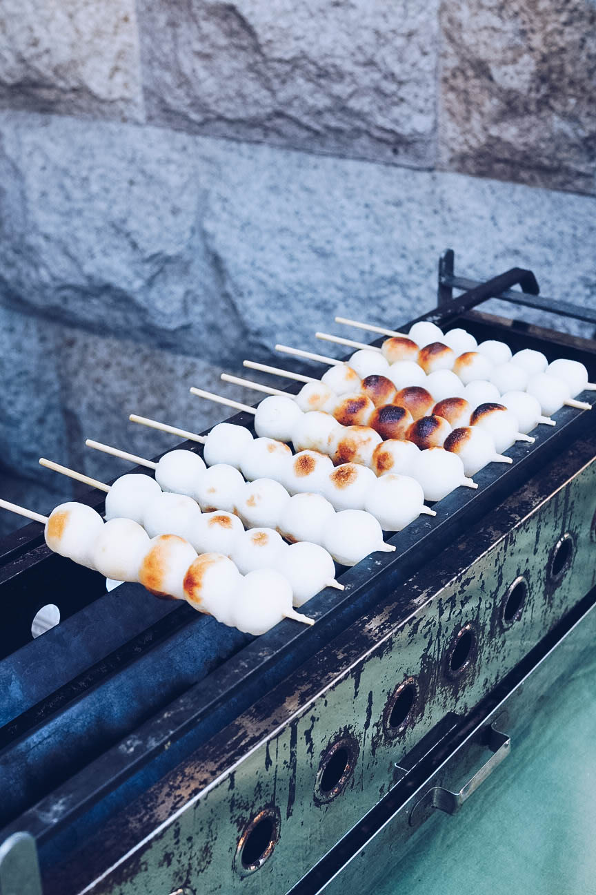 Mitarashi dumplings