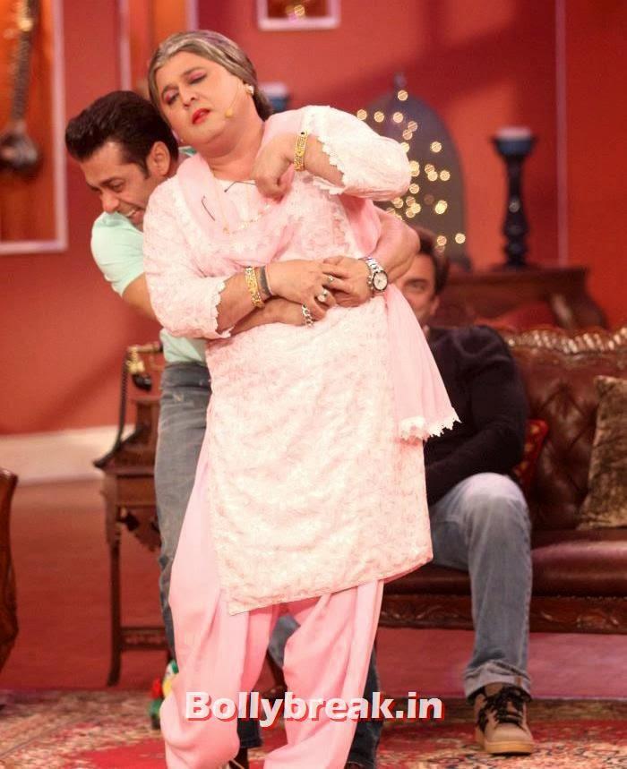 Salman Khan, Ali Asgar, Salman Khan & Daisy Shah on Comedy Nights with Kapil