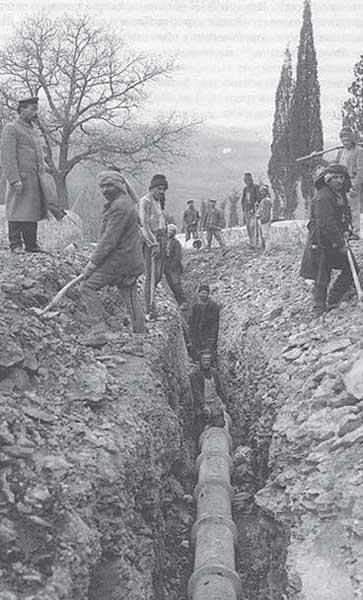 Строительство ялтинского водопровода