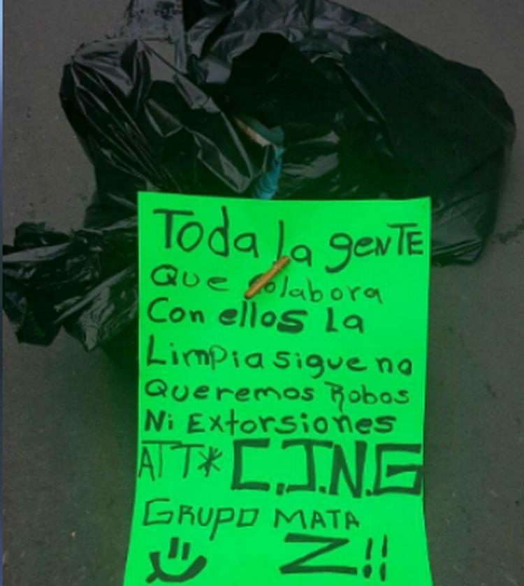 CJNG VUELVE HACER DE LAS SUYAS Y DEJA DESCUARTIZADA CON AMENAZA