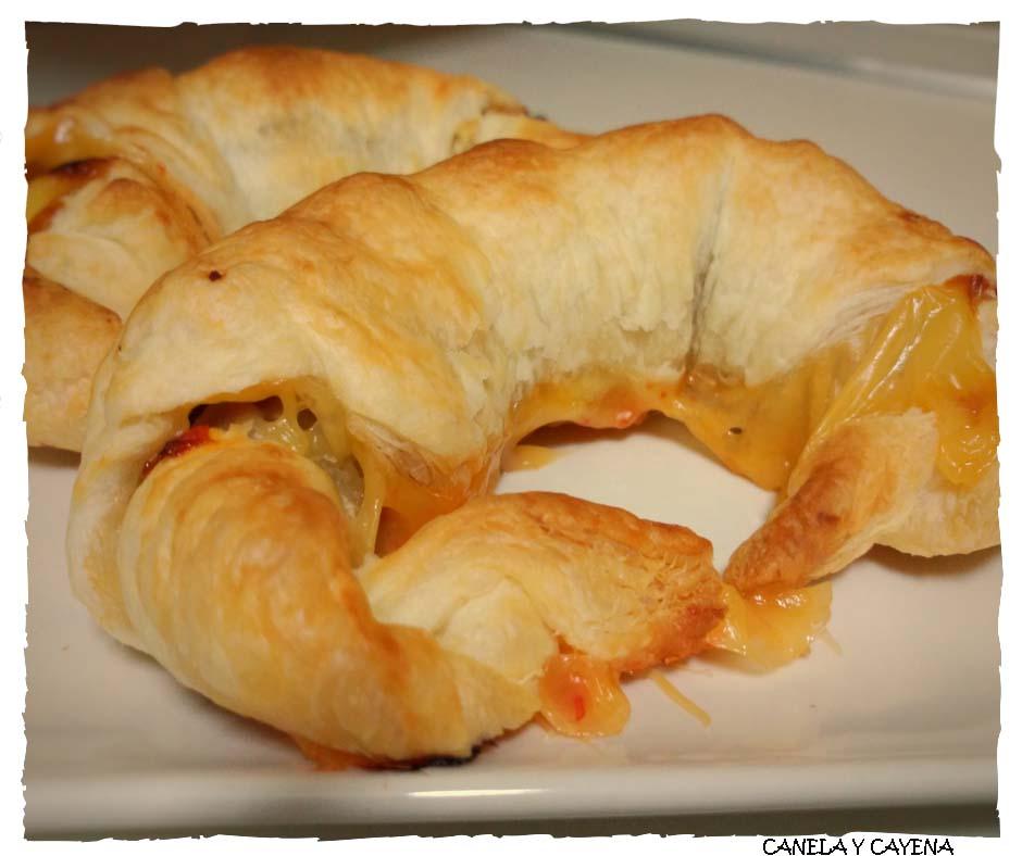Canela y cayena croissants de jam n serrano cheddar y - Hacer mermelada de pimientos ...