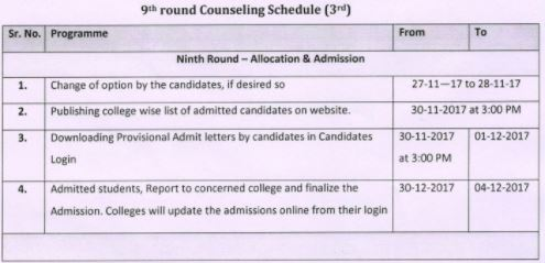 image : Haryana D.Ed. 2017-19 Phase-III Counselling Schedule 2017 (9th Round) @ Haryana-Education-News.com