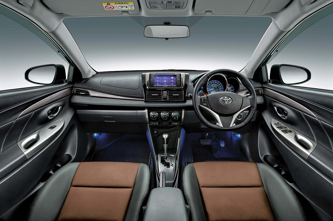 Launched in 2013 this time the edgy styled vios gets a slight exterior tweak but most importantly a proper engine and gearbox from the 2010s instead of