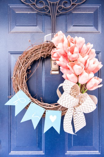 Simply Made Fun - Easy Spring Tulip Wreath