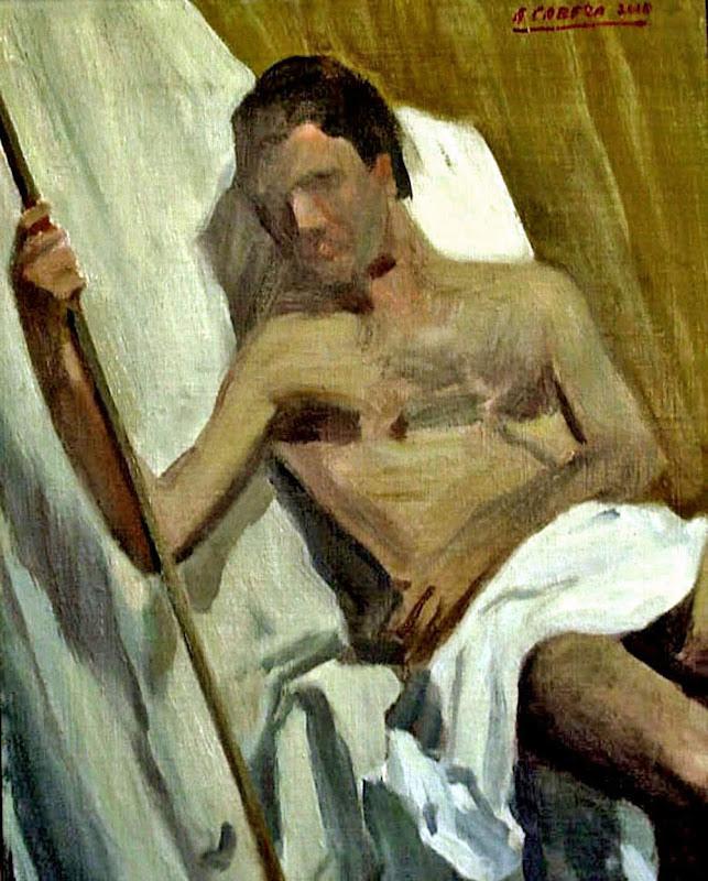 Estudio academico, Alejandro Cabeza,  Pintura Valenciana, Pintor Español, Pintores Valencianos, Luis Massoni, Retratistas español