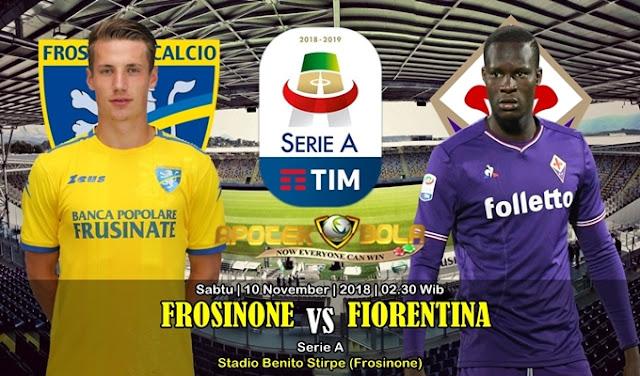 Prediksi Frosinone Vs Fiorentina 10 November 2018