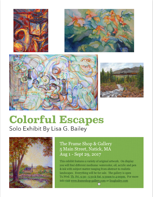 "Lisa Bailey - ""Colorful Escapes"" - art show in Natick"