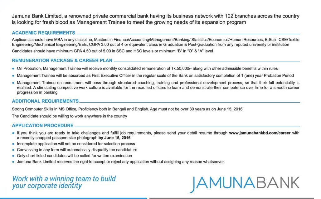jamuna bank limited training and development Jamuna bank limited is a private commercial bank (jamuna bank shantinagar branch former senior vice president and current principal at jamuna bank training.
