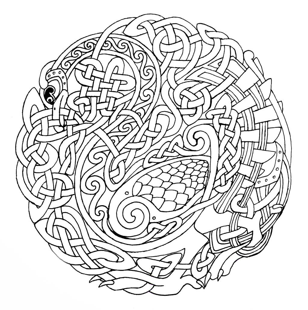 Mandala Coloring Pages Celtic Mandala Coloring Pages For