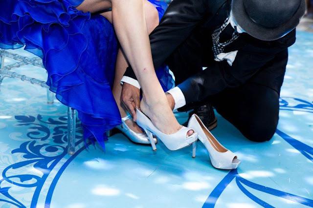 troca do sapato