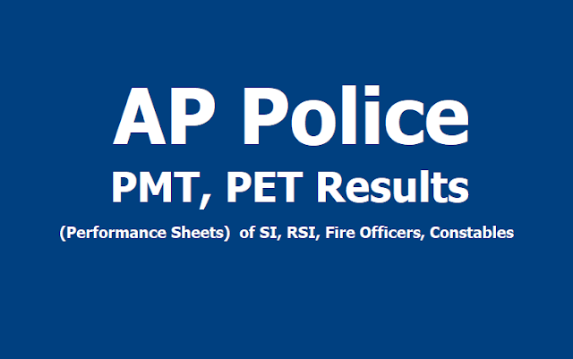 AP Police PMT, PET Results