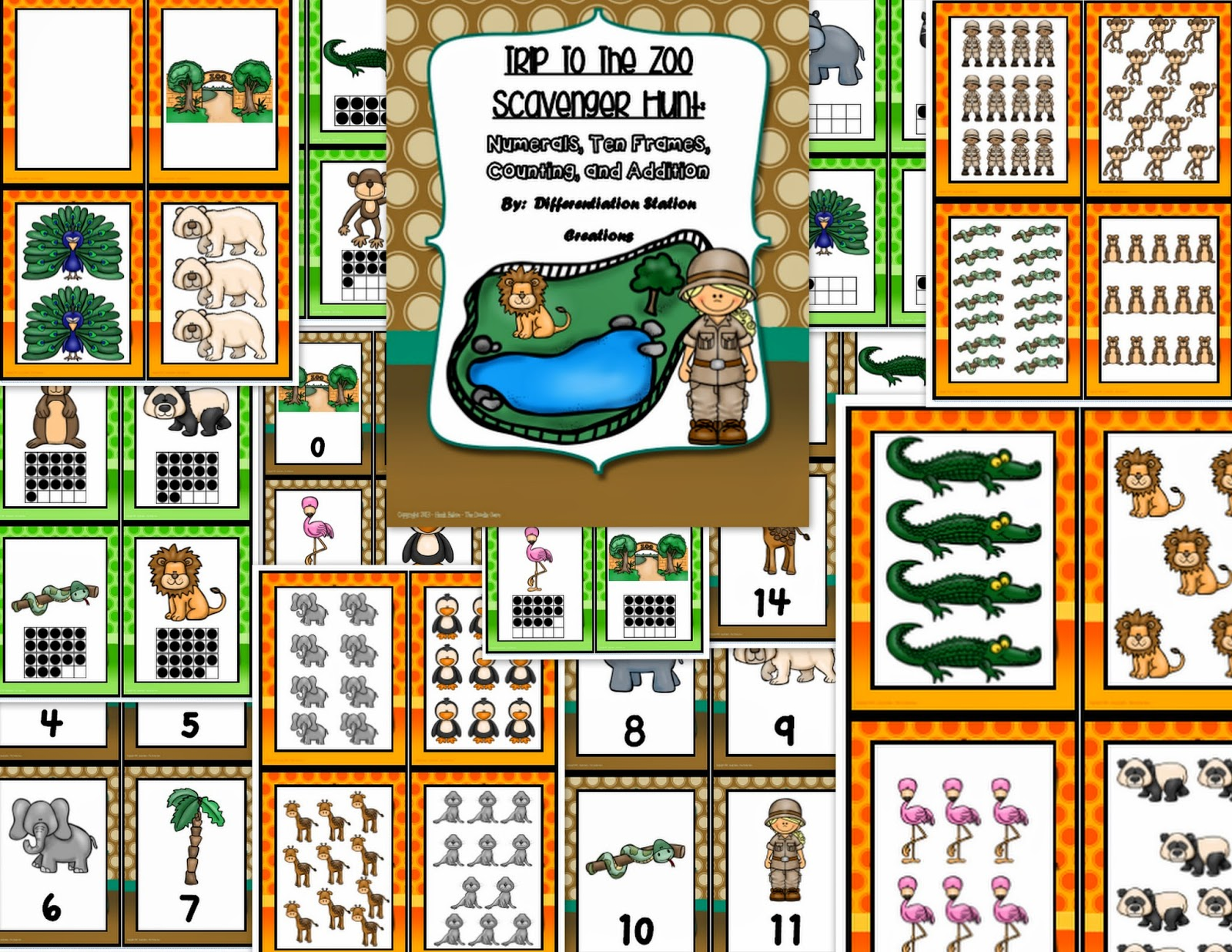 http://www.teacherspayteachers.com/Product/Trip-to-the-Zoo-Math-Scavenger-Hunt-Numerals-Ten-Frames-Counting-Cardinality-1155149