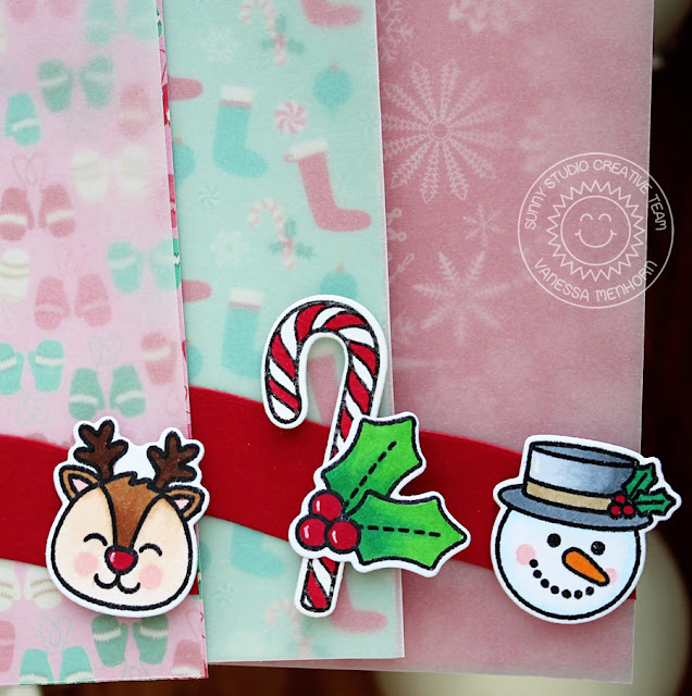 Sunny Studio Stamps: Christmas Icons & Cresent Tag Topper Holiday Gift Tags by Vanessa Menhorn.