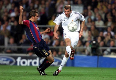 Zidane scored against Barcelona at Camp Nou