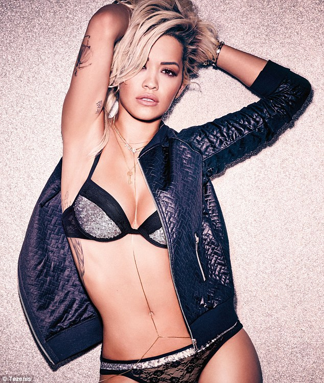 Rita Ora strips to lingerie for the Tezenis Campaign 2015