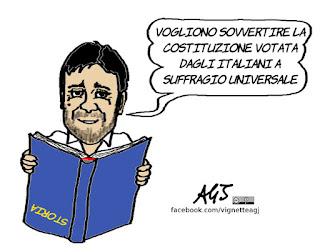 TreNo tour, di battista , referendum costituzionale, storia, costituzione, satira, vignetta