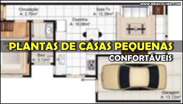 Plantas De Casas Populares Pequenas Confortaveis E Bem - Planos-de-casas-pequeas