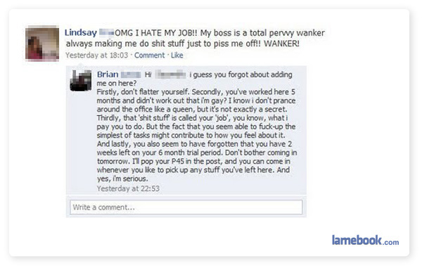 The Funniest Facebook Funny Facebook Fail Pictures Of Fail Statuses Comments