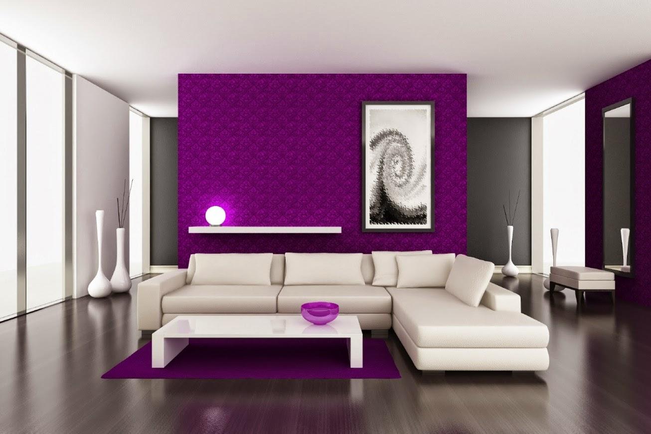 sala en blanco violeta