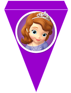 Sofia the First Free Printable Banner.