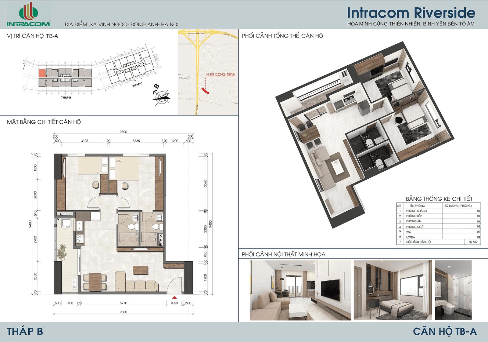 Thiết kế căn 01 - 08 - 09 - 16 - 66m2