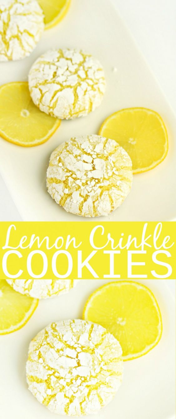NEW LEMON CRINKLE COOKIES