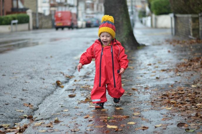 Polarn o Pyret waterproof rain suit, rain coat, polarn o pyret onesie