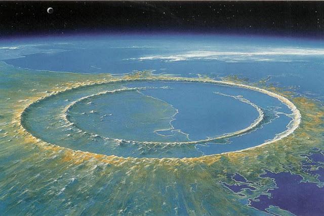 Meksika, Chicxulup Krateri. Kretase - Tersiyer Kitlesel Yok Oluşu