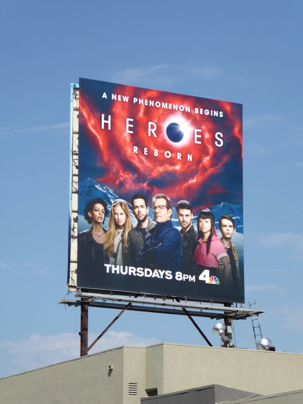 Heroes Reborn cast billboard