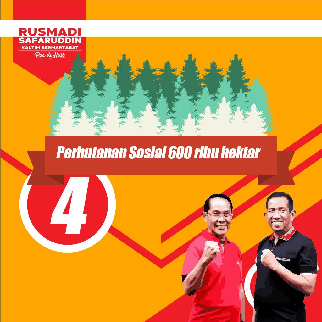 "Program Rusmadi Safaruddin ""Perhutanan Sosial Seluas 600rb Hektar"""